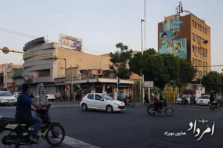 چهارراه دروازه دولاب کنونی با خیابان 17 شهریور