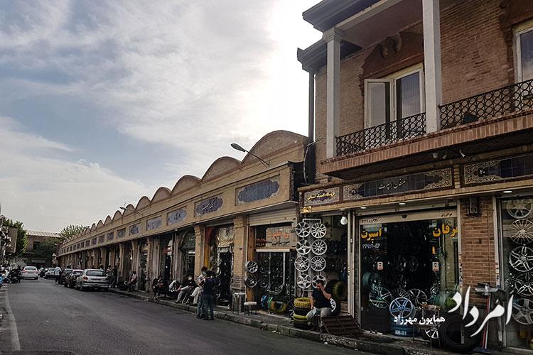 خیابان امیرکبیر راسته لاستیک فروشها