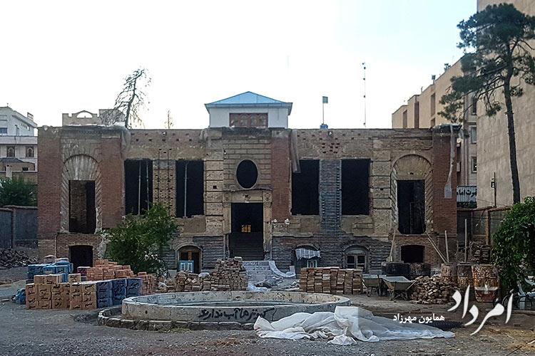 درحال بازسازی بنای ظهیرالسلام