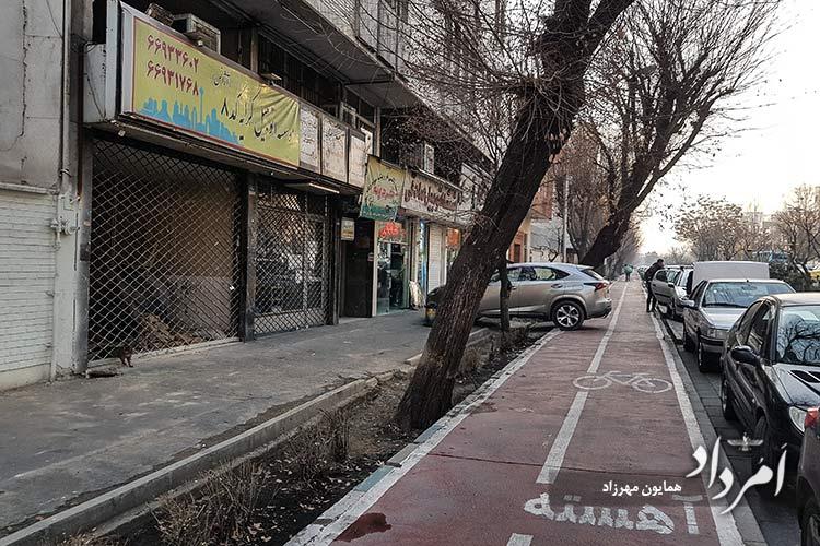 مسیر ویژه دوچرخه از بلوار کشاورز شرقی تا میدان هفت تیر