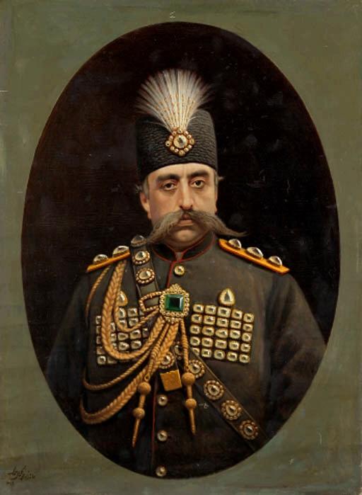 تابلوی مظفرالدین شاه اثر کمالالملک