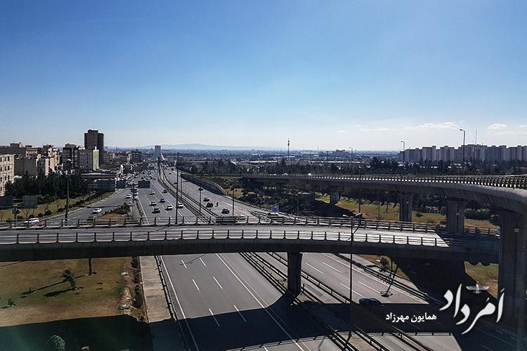 دورنمای محله مهرآباد تهران