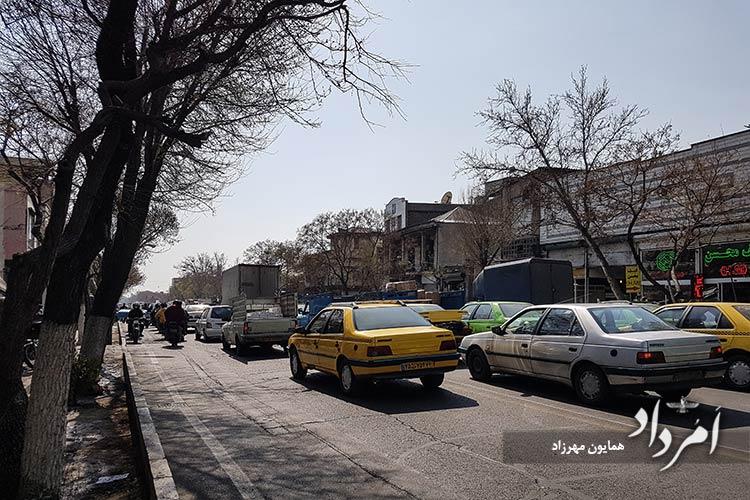 خیابان مصطفی خمینی در محله سیروس