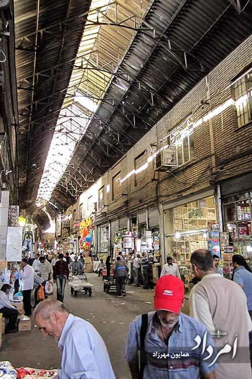 بازار قدیمی حضرتی شمالی محله مولوی