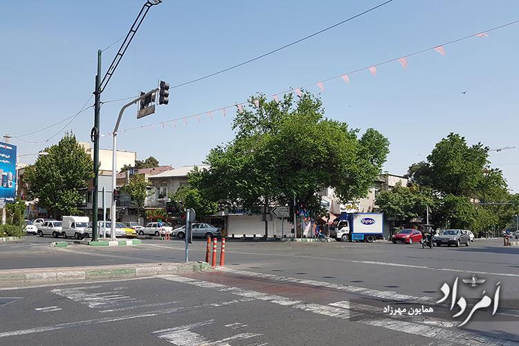سه راهی دولت محله قلهک