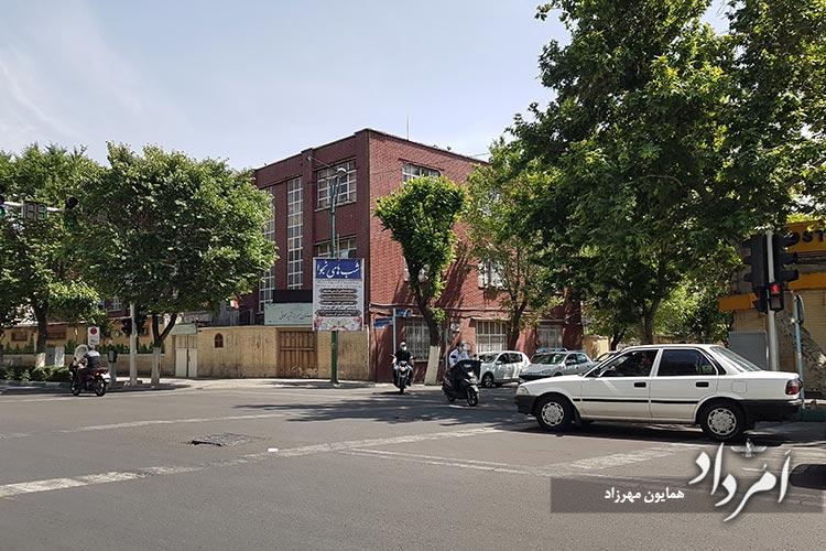 چهارراه قدیمی آبسردارانتهای خیابان ایران