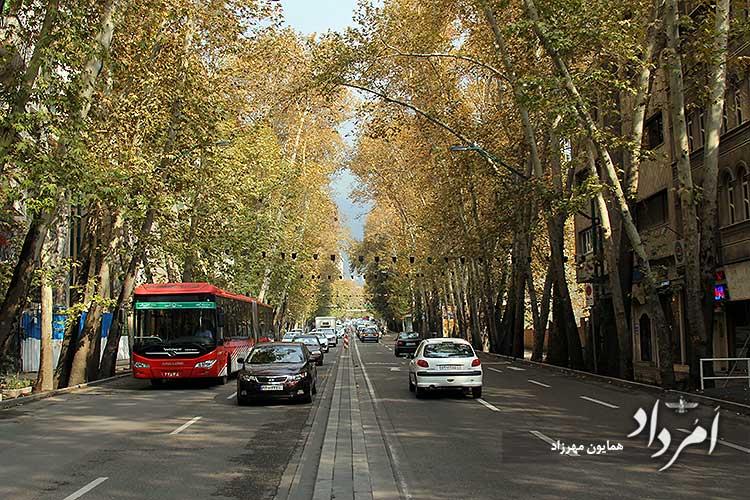 ولیعصر شمالی به میدان تجریش تهران