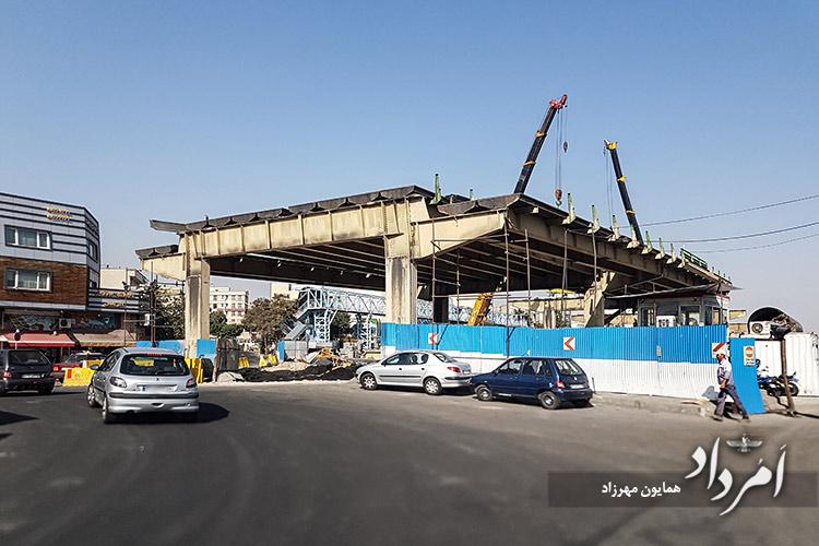 پل گیشا هنگام تخریب برای ساخت زیرگذر