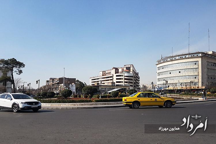 میدان راه آهن ابتدای مسیر جنوبی خیابان ولیعصر تهران بلندترین خیابان خاورمیانه به درازای 18 کیلومتر