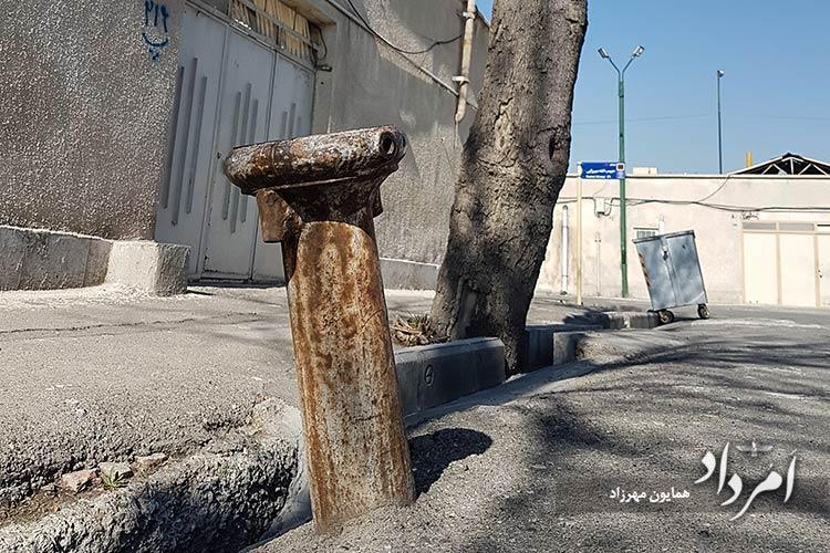 آب فشاری های دوران پیشین محله راه آهن