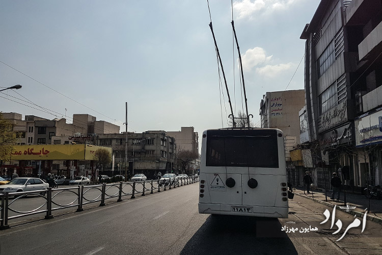 هفده شهریور تنها خیابانی که اتوبوس برقی دارد در تهران
