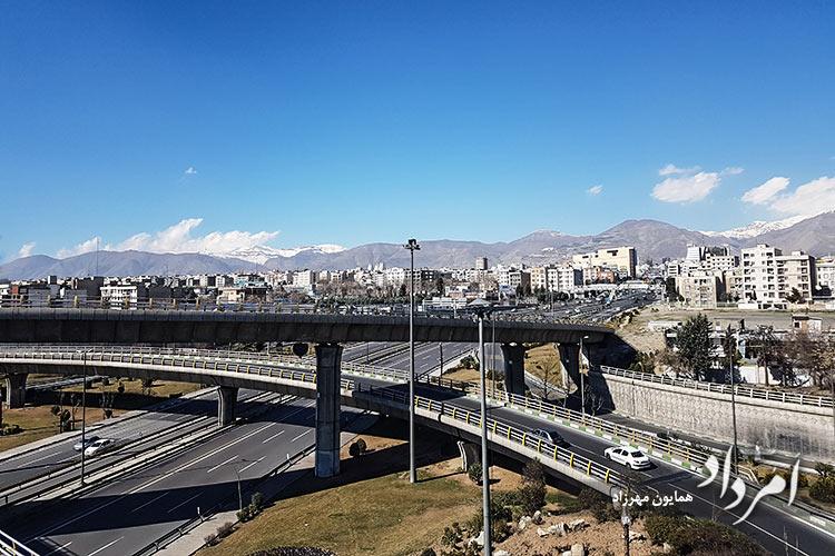 بزرگراه محمدعلی جناح به فلکه دوم صادقیه آریاشهر