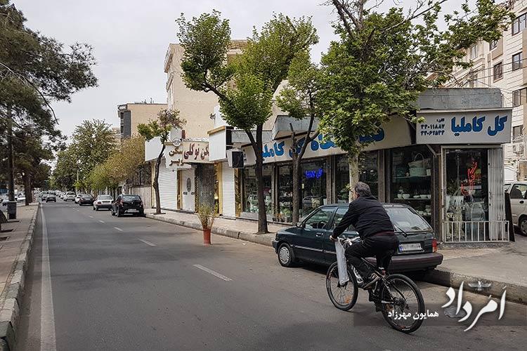 خیابان فردوس محله آریاشهر