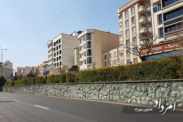 خیابان قدیمی سرو محله سعادت آباد