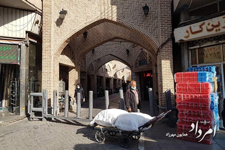 ورودی بازارچه عودلاجان از خیابان پامنار
