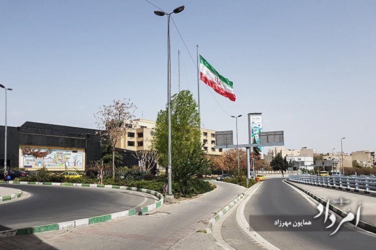 سازمان ترافیک و ایوان شمس- محله امیرآباد