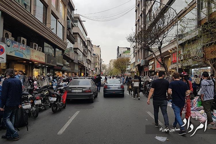 چهارراه امیراکرم - ولیعصر