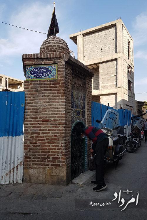 امام زاده یحیی در محله قدیمی عودلاجان