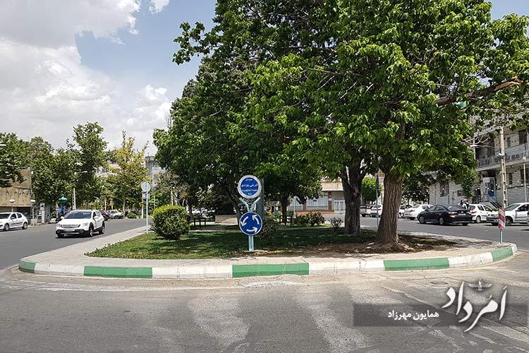 میدان فرخی یزدی محله ضرابخانه