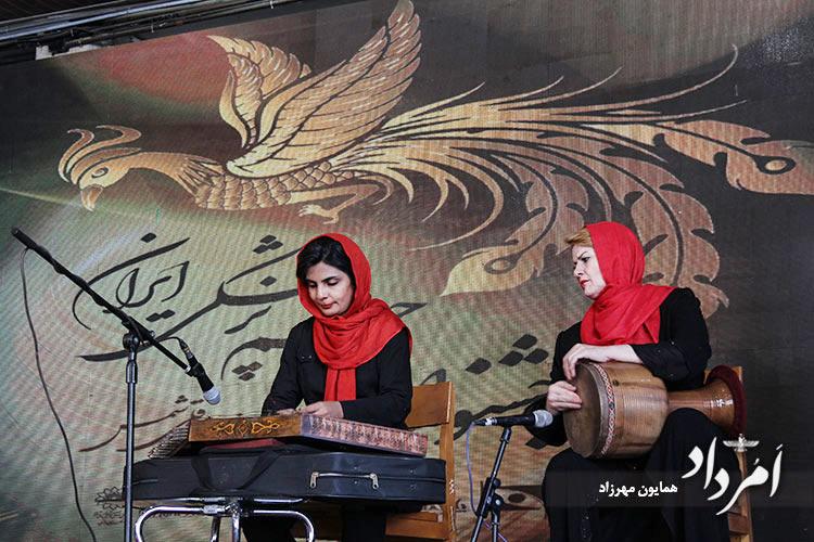 تهرانی، نوازنده سنتور و راد، نوازنده تنبک
