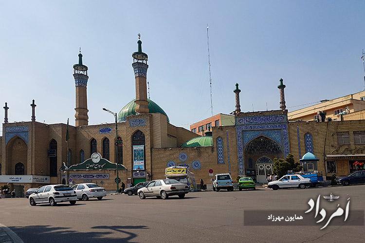مسجد جامع رسول اکرم (ص) در میدان کاج سعادت آباد