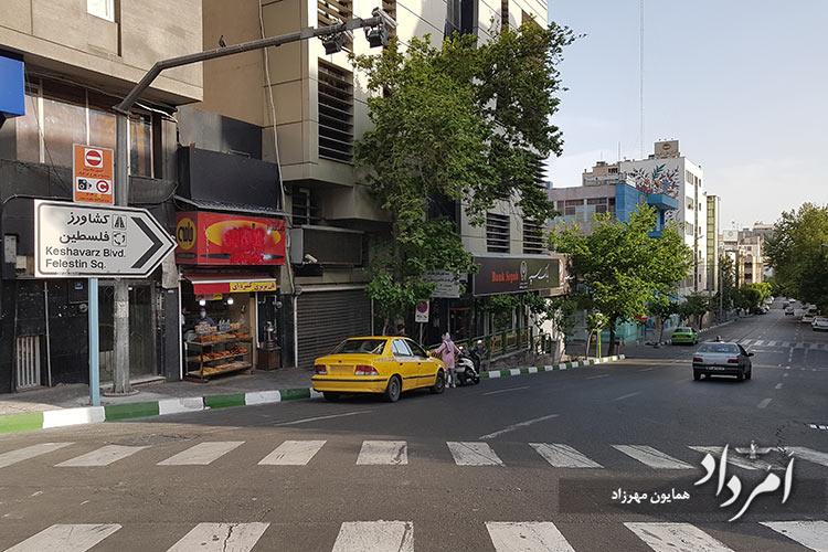 شمالی ترین خیابان فلسطین به فاطمی (کاخ پیشین)