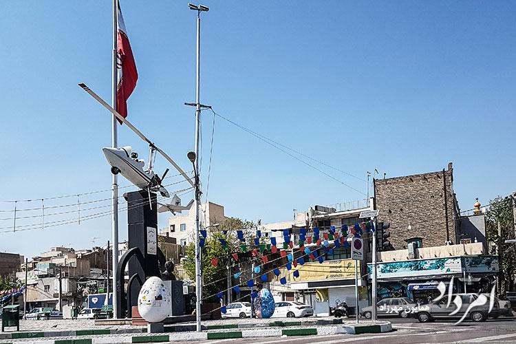 میدان استاد خلبان شهید حاج احمد مایلی، محله فلاح-ابوذر