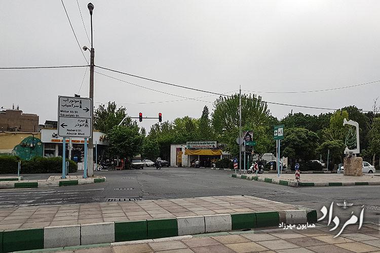 بلوار پاسدار گمنام محله سلیمانیه