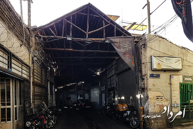 گذر بازارچه نایب السلطنه محله آب منگل (قیام)