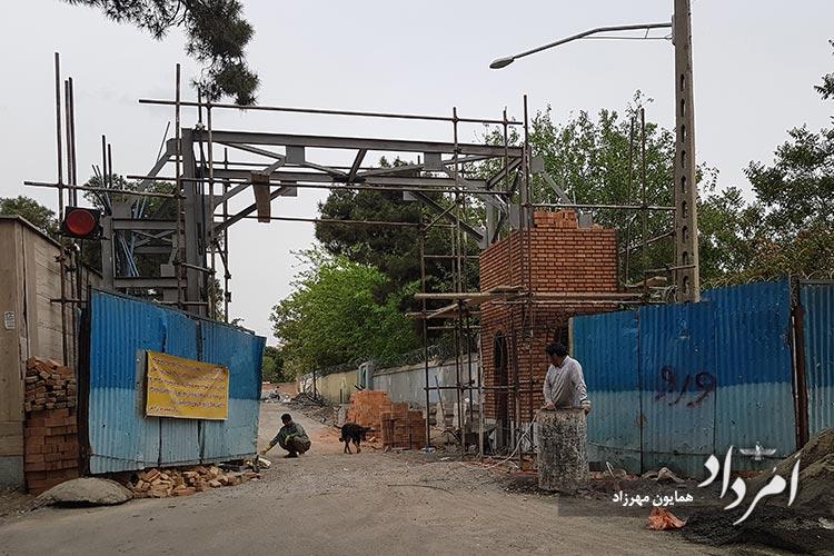 گورستان قدیمی مسیحی دولاب در حال بازسازی -محله سلیمانیه