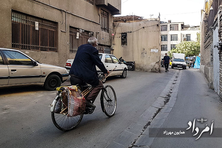 لحاف دوزی های دوران گذشته در محله آب منگل