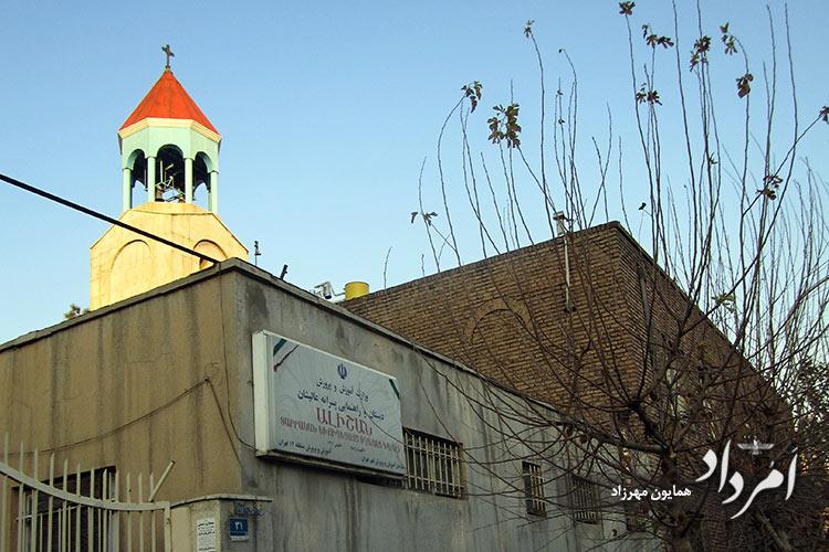 کلیسای مسیحیان کاتولیک و مدرسه عالیشان در محله چهاراه کالج