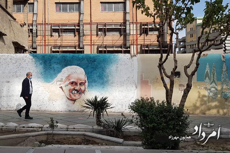 نقاشی دیواری شاعربرجسته معاصر، اخوان ثالث
