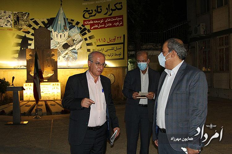 چهره سمت چپ: همایون سامه یح نجف آبادی نماینده کلیمیان در مجلس