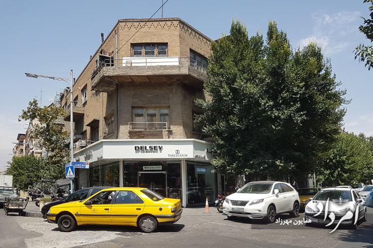 مکان فعلی نخستین گل فروشی ژرژیک تهران